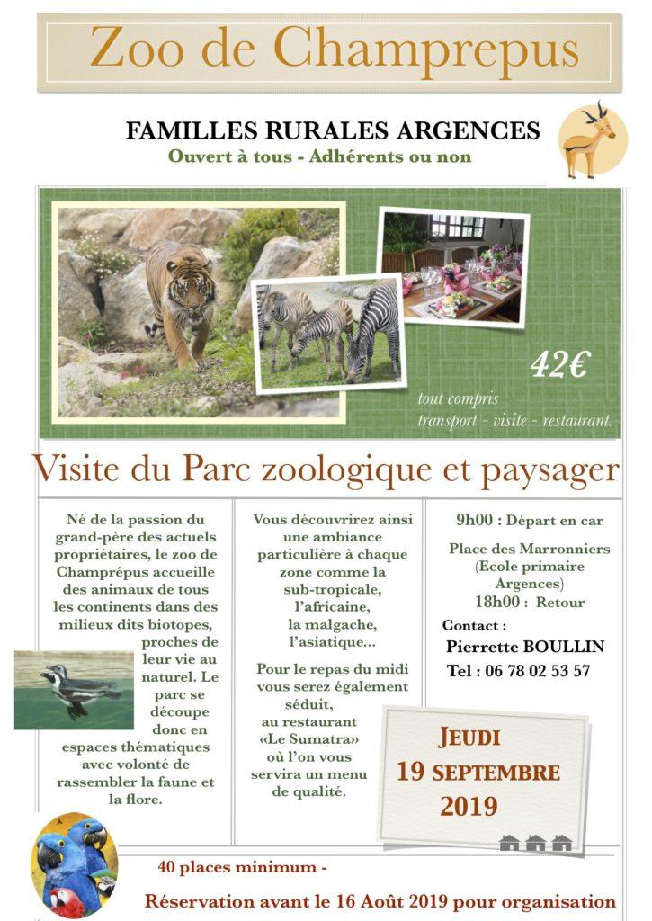 Sortie Zoo de Champrépus @ Place des Marronniers
