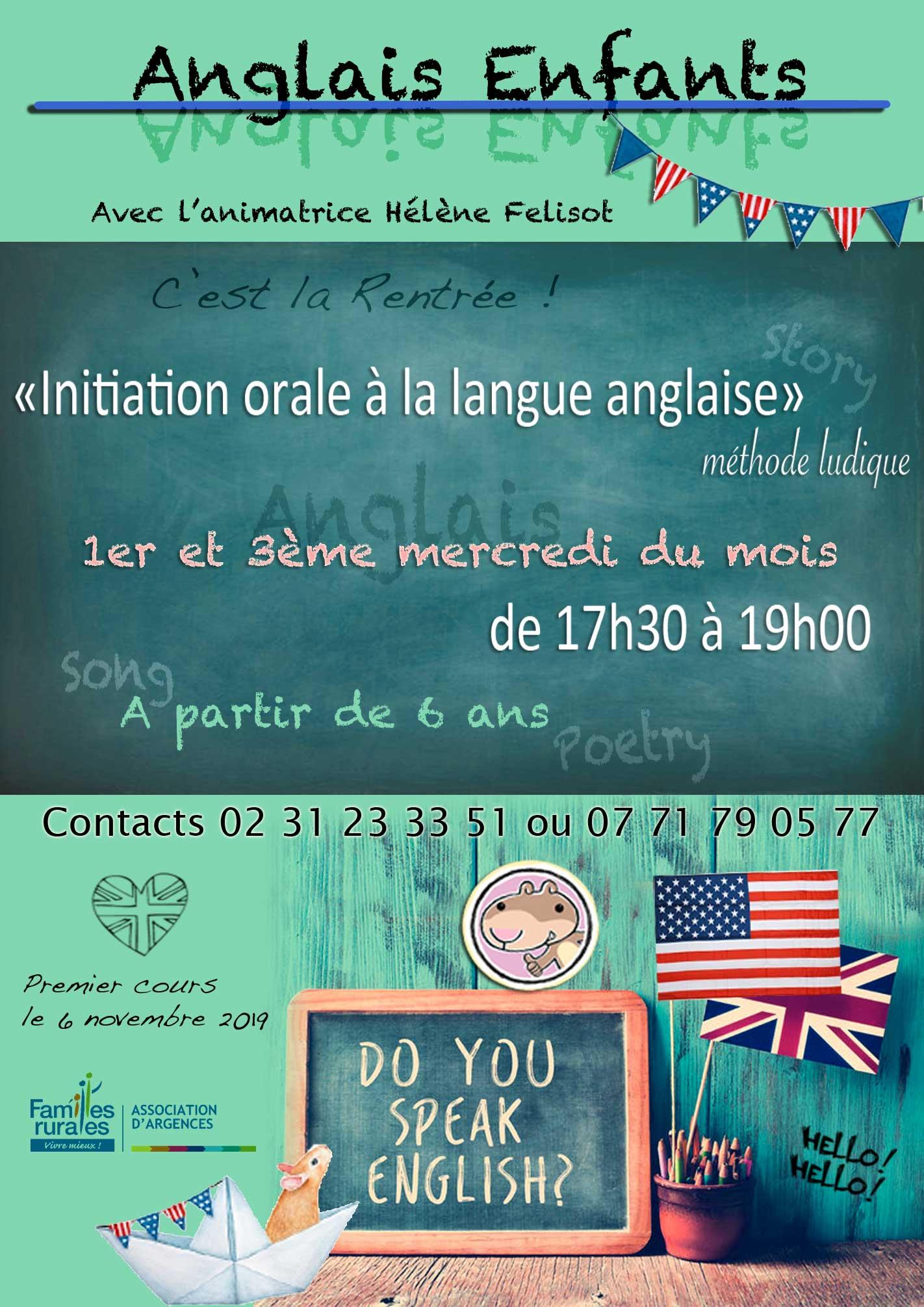 Initiation orale - anglais pour enfants