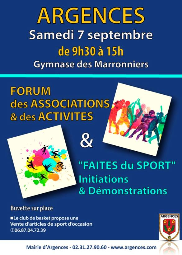 """Carrefour des Associations et """"Faites du sport"""" @ Gymnase des Marronniers - Salle Multi - activités"""